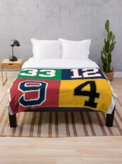 Boston Sports Legends Throw Blanket