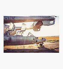 Military Airplane Abandoned  Photographic Print