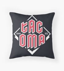 Tacoma but in red Throw Pillow