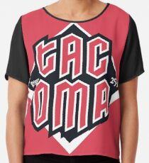 Tacoma but in red Chiffon Top