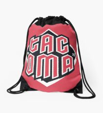 Tacoma but in red Drawstring Bag