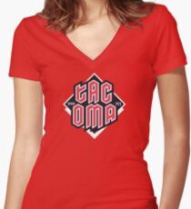 Tacoma but in red Fitted V-Neck T-Shirt