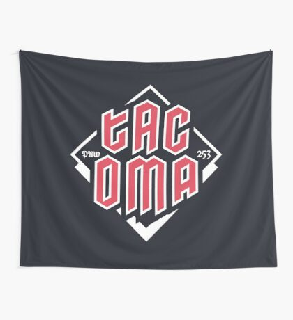 Tacoma but in red Wall Tapestry