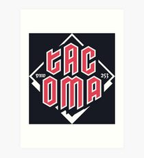 Tacoma but in red Art Print