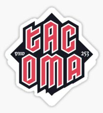 Tacoma but in red Glossy Sticker