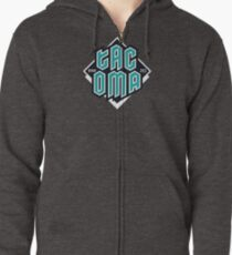 Copy of Tacoma but in teal! Zipped Hoodie