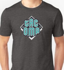 Copy of Tacoma but in teal! Slim Fit T-Shirt