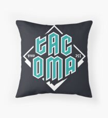 Copy of Tacoma but in teal! Throw Pillow