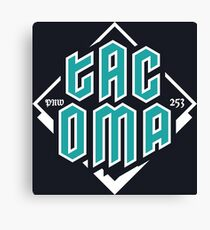 Copy of Tacoma but in teal! Canvas Print