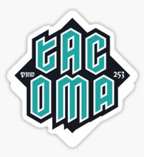 Copy of Tacoma but in teal! Glossy Sticker