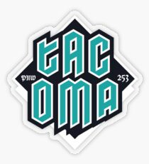 Copy of Tacoma but in teal! Transparent Sticker