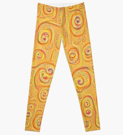 Deep Dreaming of a Yellow-Orange World 4K Leggings