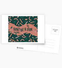 Don't be a jerk Postcards