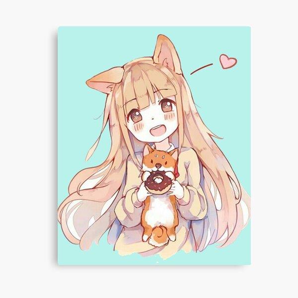 kawaii anime girl Canvas Print