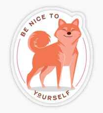Be Nice to yourself Transparent Sticker