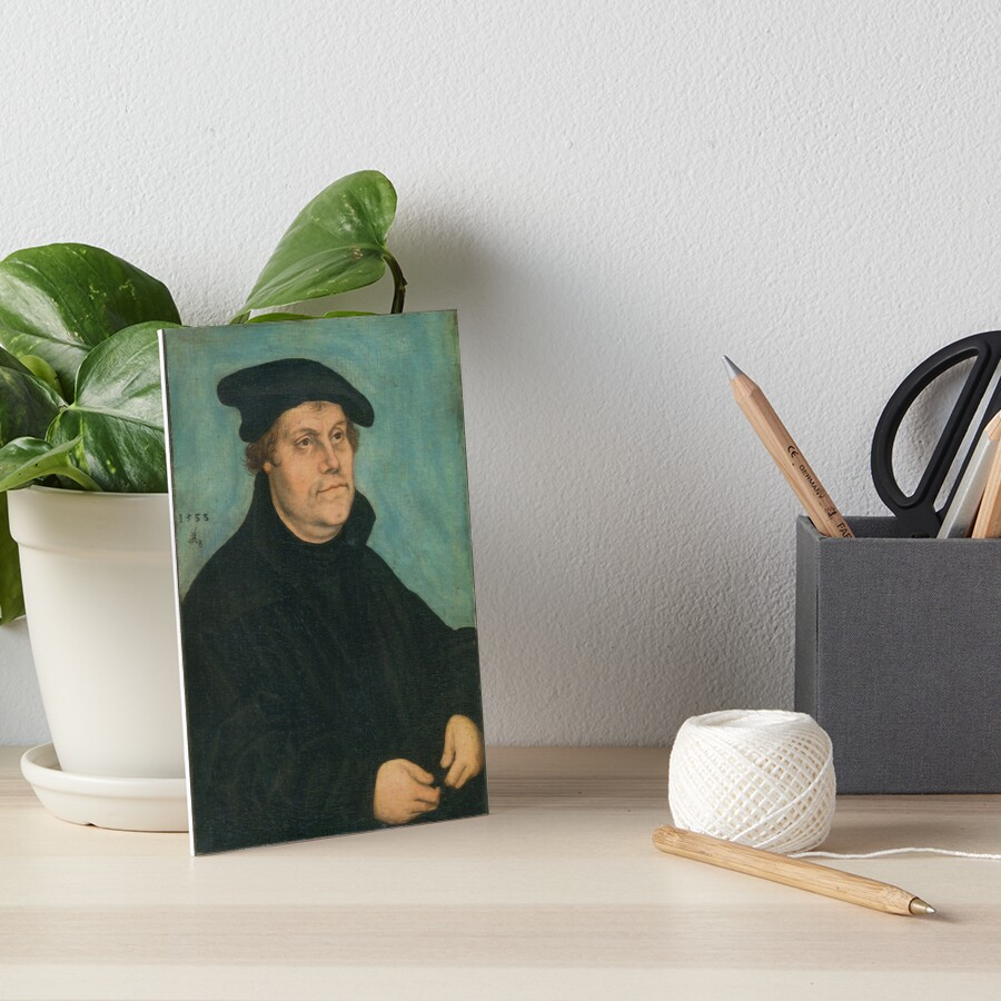 Martin Luther by Lucas Cranach the Elder, 1533 Art Board Print