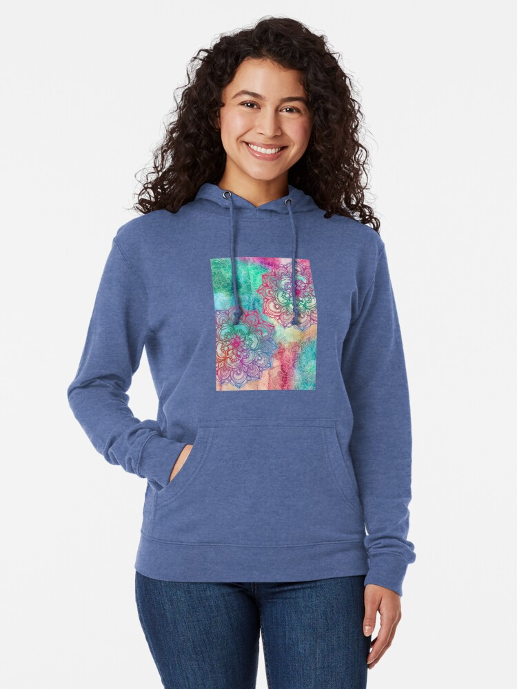 Alternate view of Round and Round the Rainbow Lightweight Hoodie