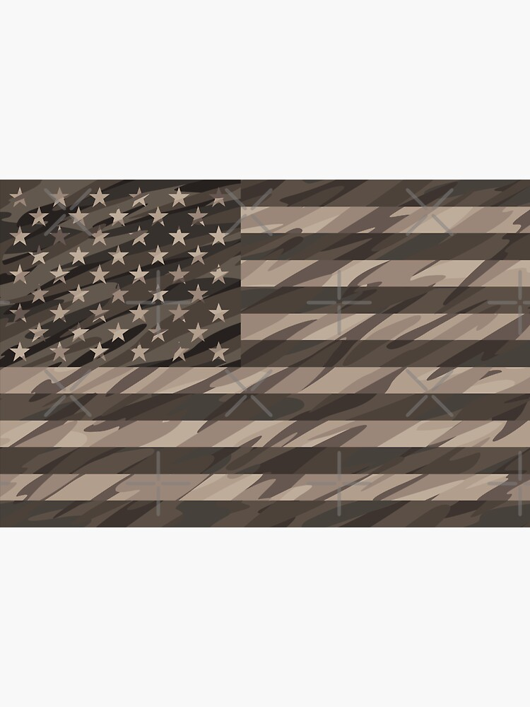 Patriotic Desert Tan Camo USA Flag by hobrath