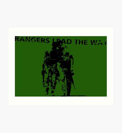 Rangers Lead the Way - U.S. Army  Art Print