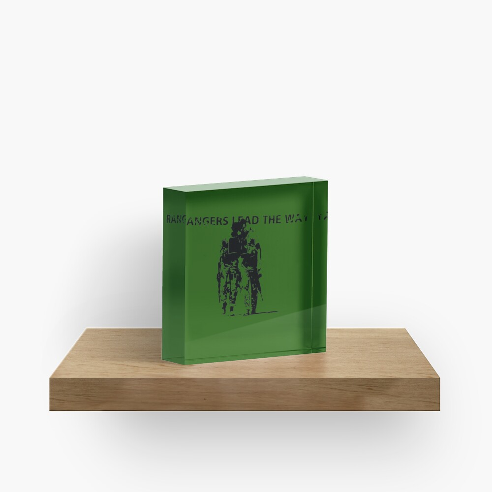Rangers Lead the Way - U.S. Army  Acrylic Block