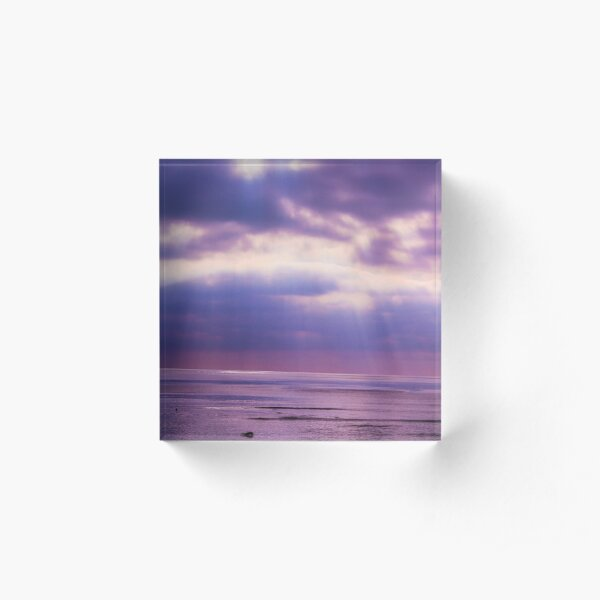 Sunset Beach  Acrylic Block