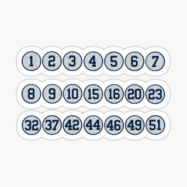 Yankees Retired Numbers Sticker