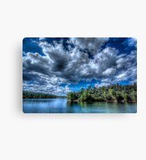 Lynx lake, Blue Green Canvas Print