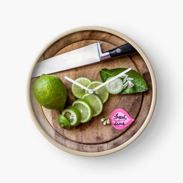 Fresh lime! Clock