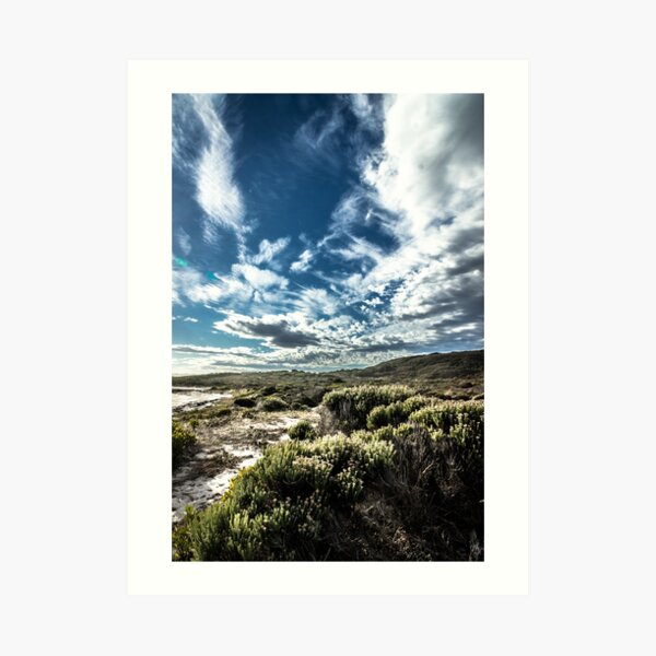 Where the sky meets the land Art Print