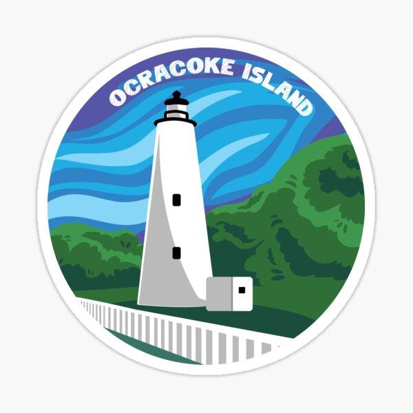 Ocracoke Lighthouse - Daytime Sticker
