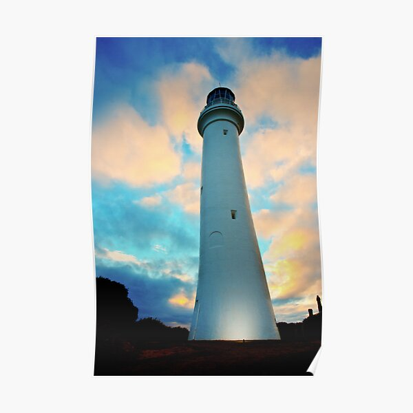 Lighthouse in the Sky Poster