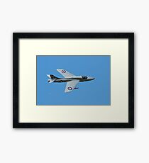 Hawker Hunter jet Framed Print