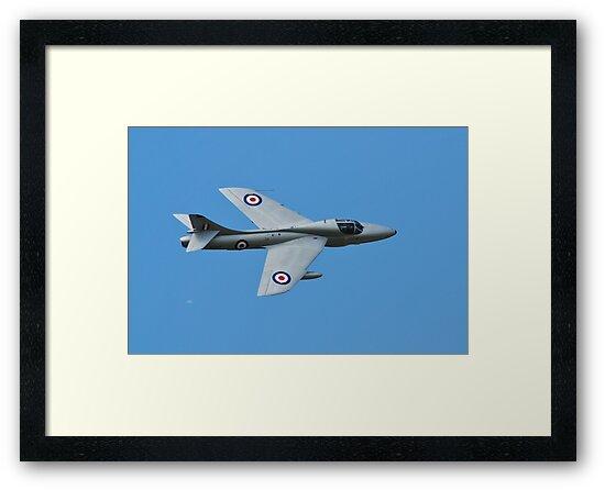 Hawker Hunter jet by David Fowler