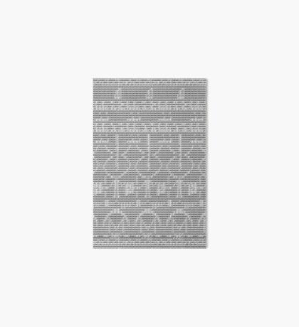 The Arecibo Message 0010 - Terminal Art Board Print