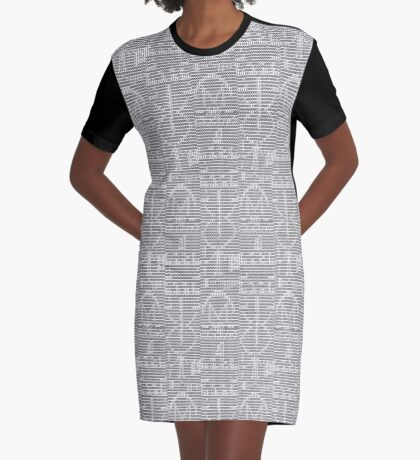 The Arecibo Message 0010 - Terminal Graphic T-Shirt Dress