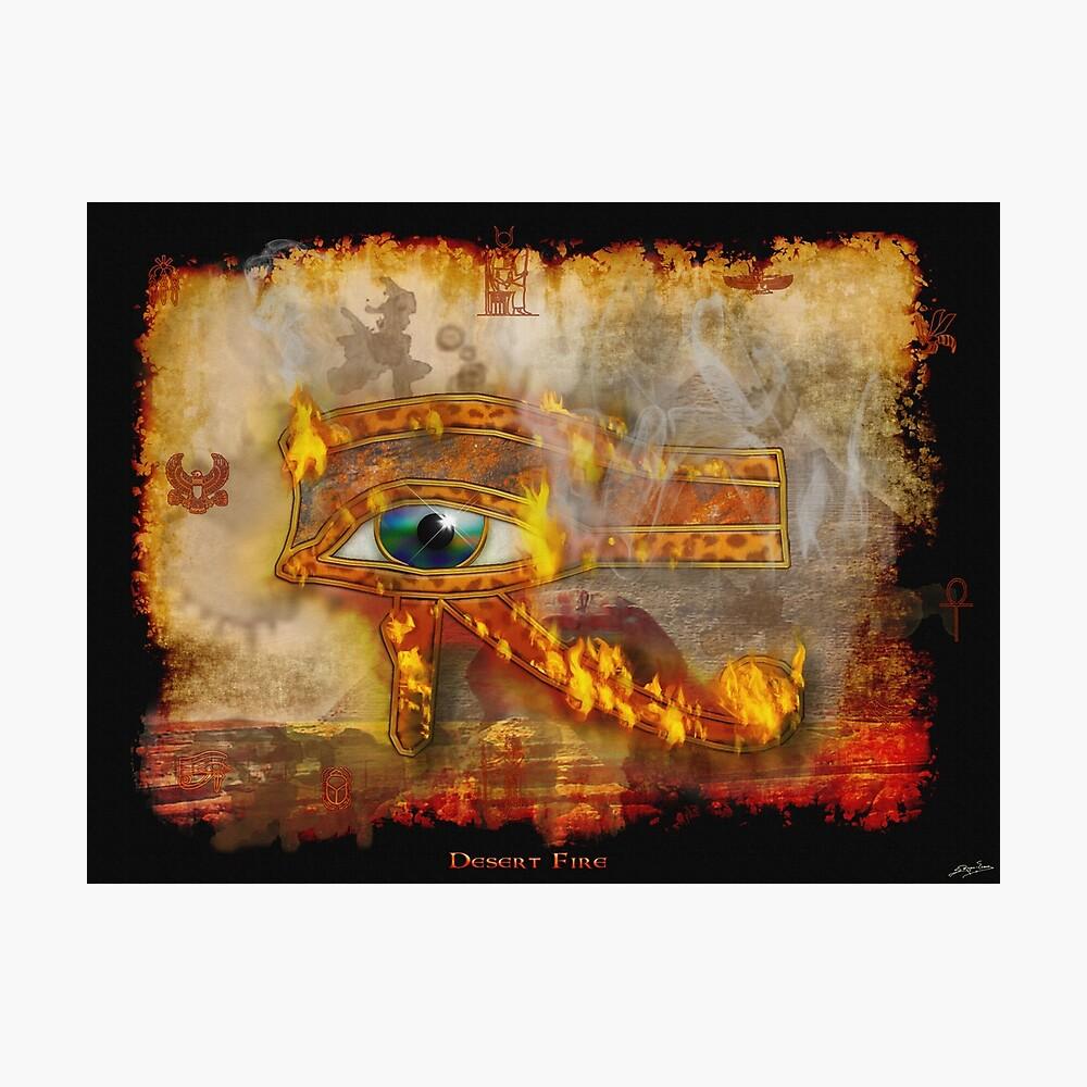 Desert Fire Fotodruck