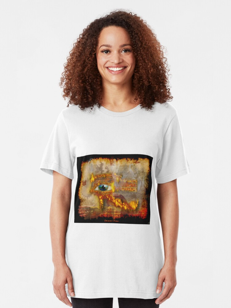 Alternative Ansicht von Desert Fire Slim Fit T-Shirt