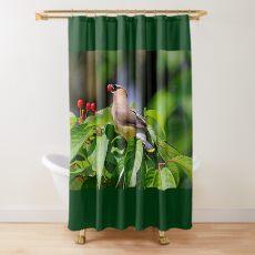 Cherry Picking Shower Curtain