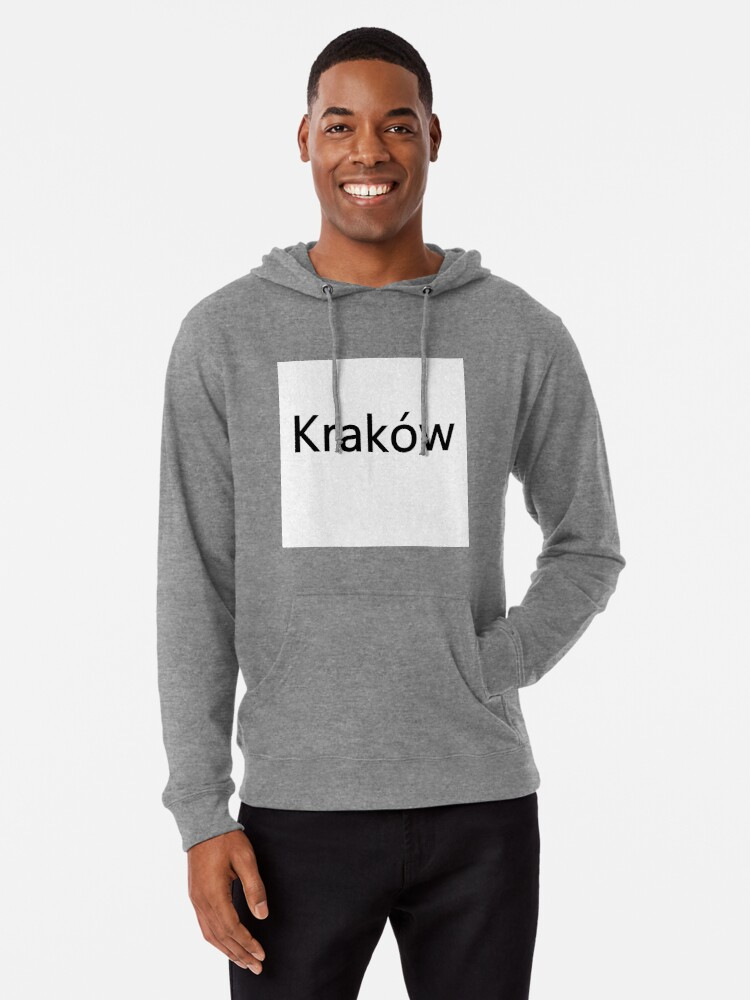 Alternate view of Kraków (Cracow, Krakow), Southern Poland City, Leading Center of Polish Academic, Economic, Cultural and Artistic Life Lightweight Hoodie