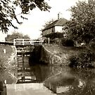 Semington Lock and House Brownie Effect by davesphotographics