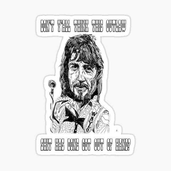 Waylon Outlaw Shit Sticker