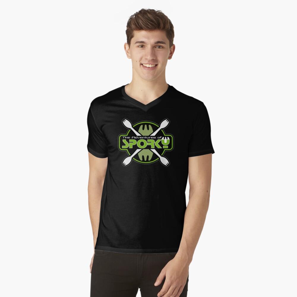 The Adventures of Sporky Logo V-Neck T-Shirt