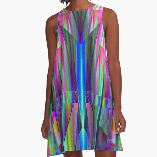 Chrystal refracted light A-Line Dress
