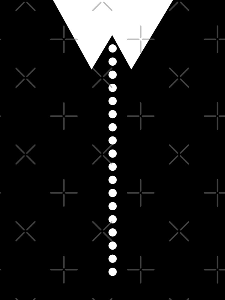 Faux Collar and Buttons in Black and White  by kierkegaard