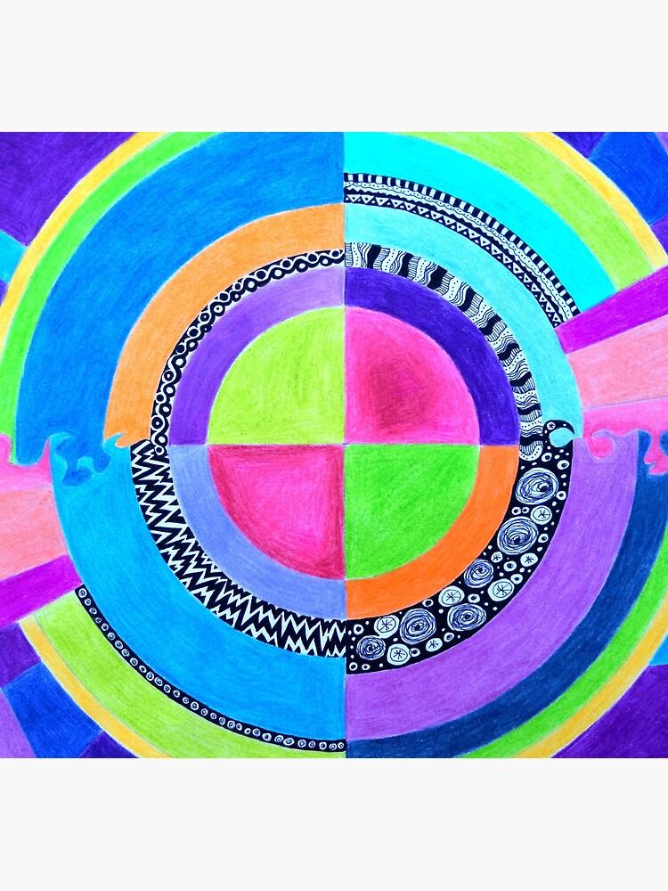 Meditation Mandala by 3boysenberries