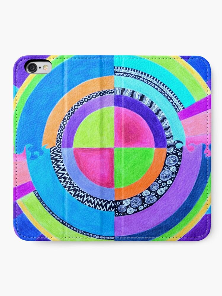 Alternate view of Meditation Mandala iPhone Wallet