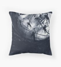 moon groomers (drawing) Throw Pillow