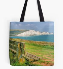 Bench and Seven Sisters - HDR  Tote Bag
