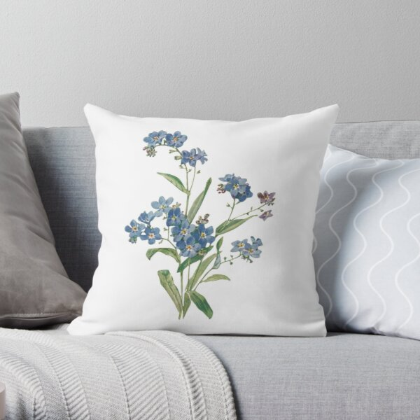 Forget Me Not Design Throw Pillow