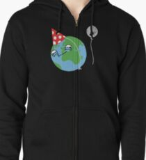 Happy Earth Day! Zipped Hoodie